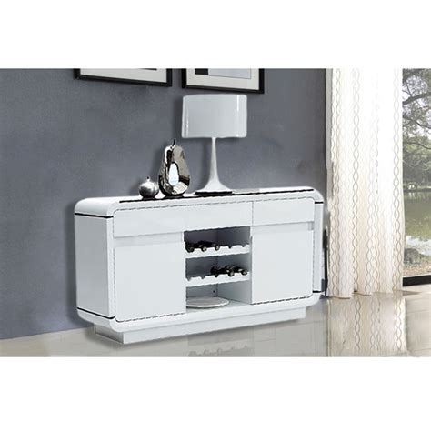 White Sideboard With Wine Rack design high gloss white sideboard cabinet buffet with 2 door 3 drawer wine rack