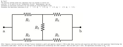 resistance in parallel and series questions the resistor network shown has components that are chegg