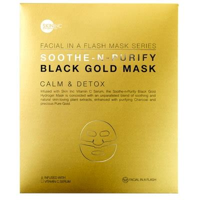 Calm Brand Detox by Skin Inc Soothe N Purify Black Gold Mask For Calm Detox