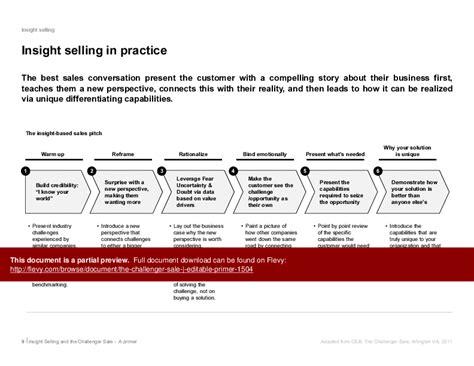 challenger sales model the challenger selling model primer powerpoint slideshow