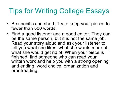 Tips For Writing College Essays by College Essay Tips By Jeanne