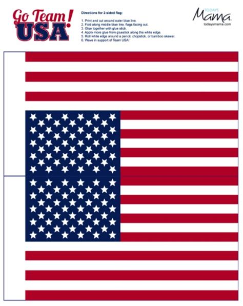 printable us flags team usa 2012 medal and usa flag printable todaysmama