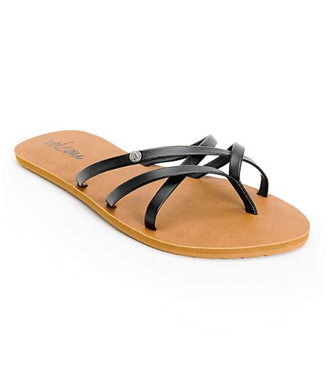 volcom new school sandals volcom new school black sandals zumiez
