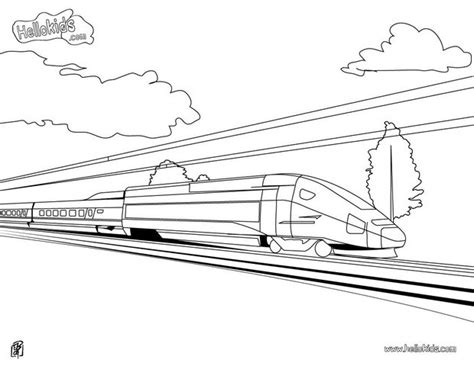 coloring page speed train high speed coloring pages hellokids com