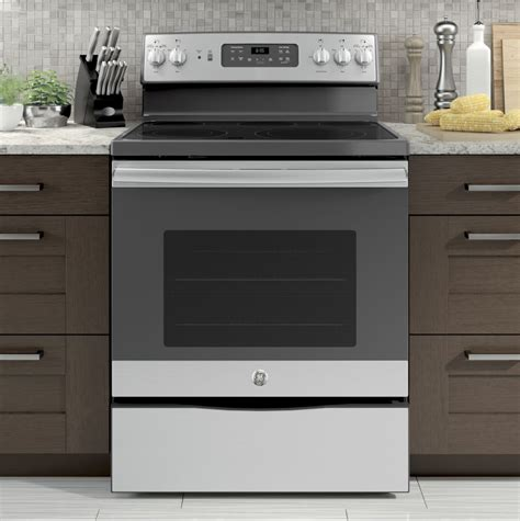 Kitchen Oven ge jb655skss 30 inch electric range with convection power
