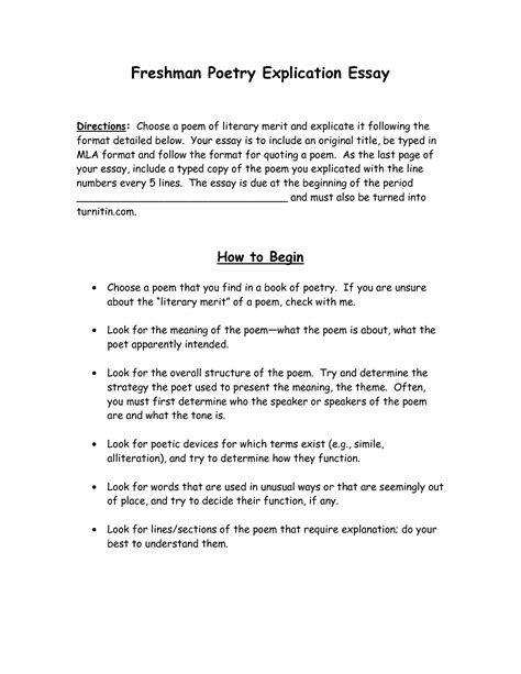 How To Write Poetry Essay by Poetry Essay Format