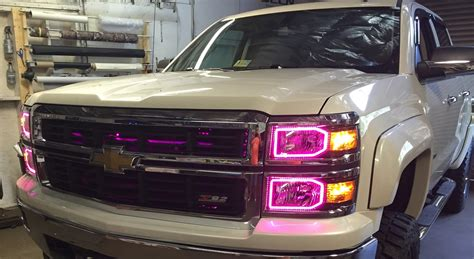 2016 chevy silverado lights oracle color changing headlight and foglight halo kits for