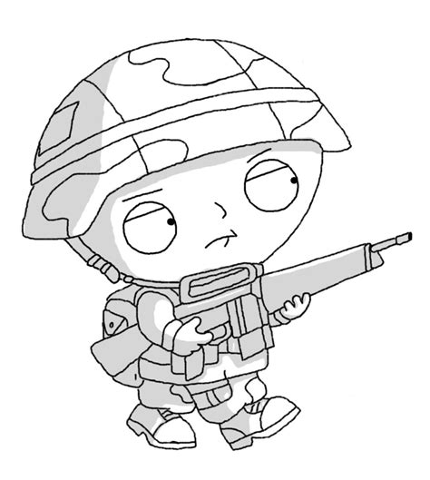 Private Stewie By Dman25666 On Deviantart Stewie Coloring Pages
