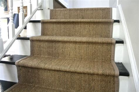 carpet stair treads ikea diy ikea jute rug stair runner what emily does