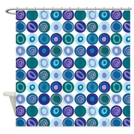 dot swirl shower curtain purple blue swirly dot pattern shower curtain by listing