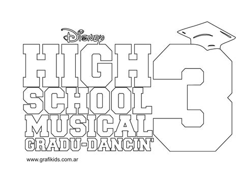 coloring pages of high school musical 3 grafikids dibujos para colorear high school musical 3