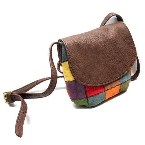 sack swing lucky brand suede patchwork cross body bag swing bag
