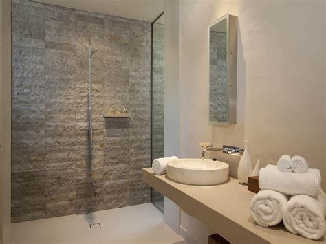 Small Radiators For Bathrooms - exposed brick in a bathroom design from an australian home bathroom photo 154438