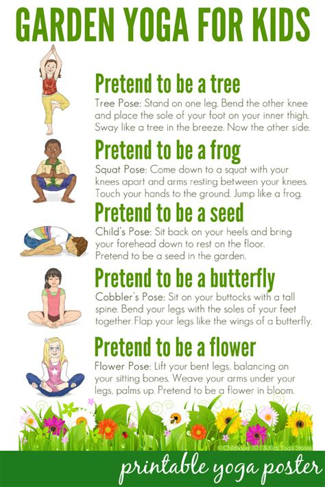 Printable Yoga Poster | yoga for kids a walk through the garden childhood101