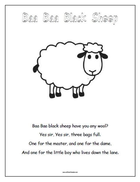 Baa Baa Black Sheep Free Printable Allfreeprintable Com Baa Baa Black Sheep Coloring Page