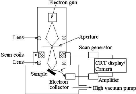 diagram of scanning electron microscope laser raman spectroscopy