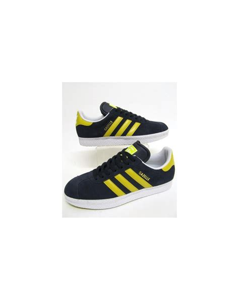 Adidas Gazelle Navy Yellow adidas gazelle 2 trainers navy yellow originals gazelle 2 blue suede