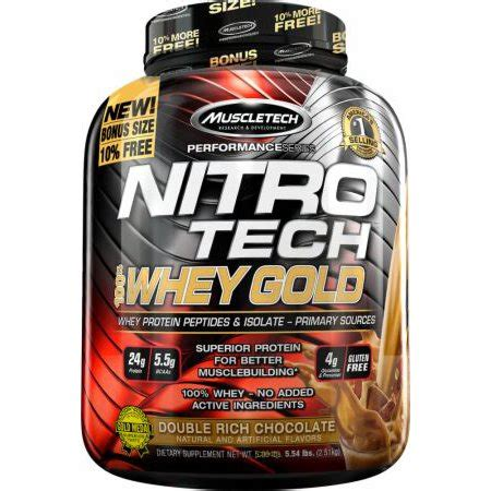 Nitrotech Nitro Tech Whey Gold 6lbs 6 Lbs Muscletech Tech muscletech nitro tech 100 whey gold protein supplement powder for musclebuilding rich