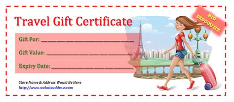 36 Free Gift Certificate Templates Bates On Design Printable Travel Voucher Template
