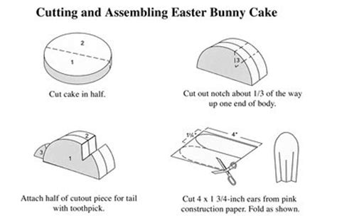bunny cake template didi relief society easter bunny cake