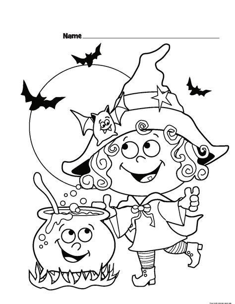childrens halloween witch costumes coloring page