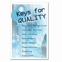 Gallery images and information quality control slogan posters