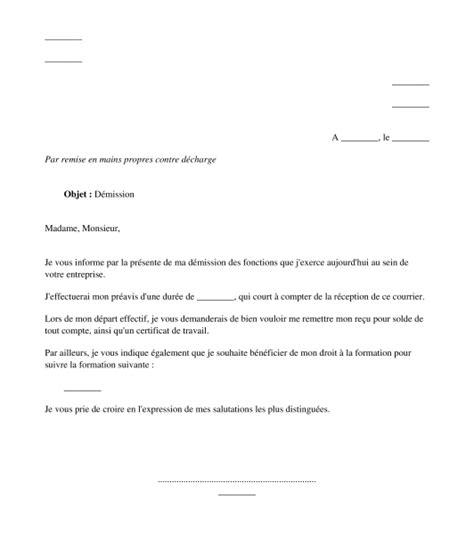 Lettre De Démission Stage lettre de demission ce candidature spontan 233 e 2018
