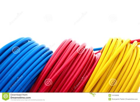 blue wires in electricity electric wires royalty free stock photos image 14155838
