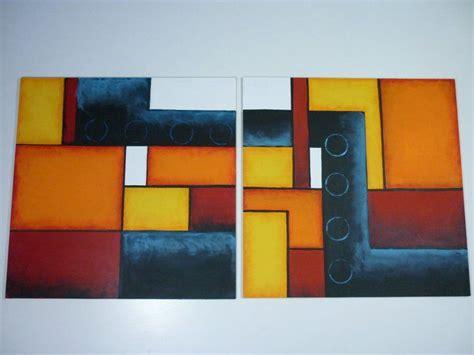 cuadro modernos abstractos cuadros abstractos tripticos geometricos imagui