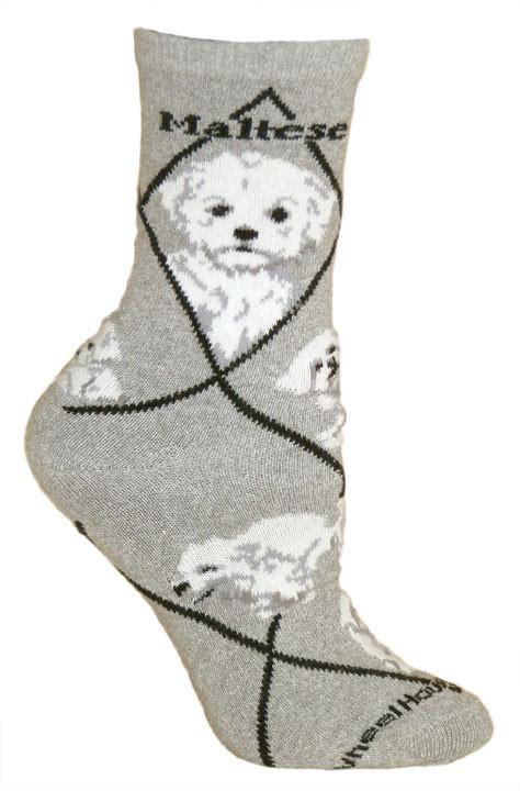 Socks Multise maltese puppy cut breed novelty socks gray style gifts