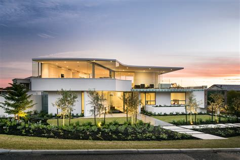 L Shape Kitchen australian residence merges exquisite design and