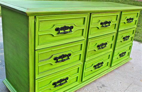 Distressed Green Dresser by Green Vintage Dresser Bright Buffet From Aquaxpressions