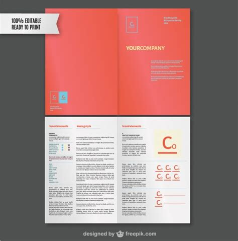 Brand Style Guide Template Vector Free Download Brand Manual Template Free
