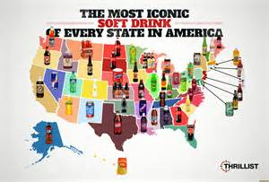 us map joke the most iconic soft drinks map usa united states