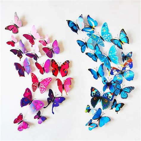 Kupu Set Pink 3d butterfly wall sticker set thefashionbooth
