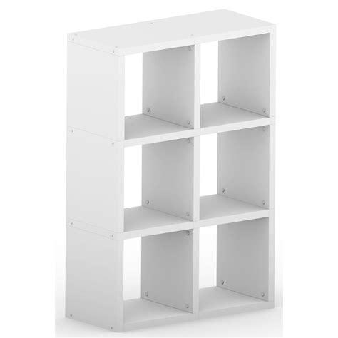6 cube bookcase white modular 6 cube white 740l x 1116h x 328d mastershelf