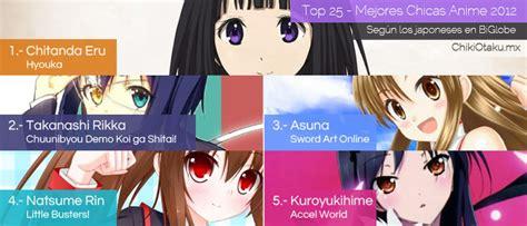 imagenes de animes y sus nombres top 25 mejores chicas animes 2012