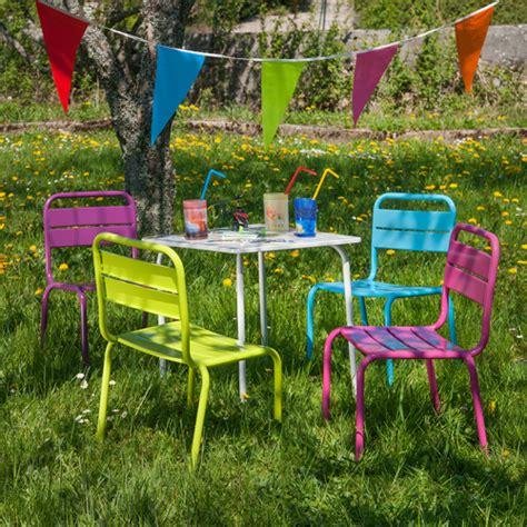 chaise jardin enfant salon jardin children pour enfant table et 4 chaises