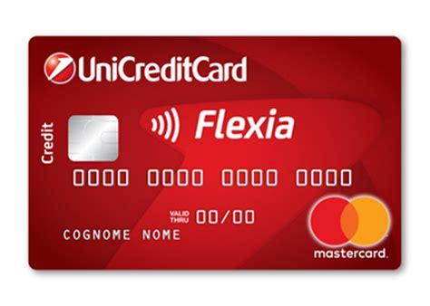 numero unicredit carta di credito revolving unicreditcard flexia classic