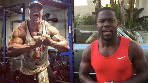 kevin hart muscles the rock and kevin hart to team up for central