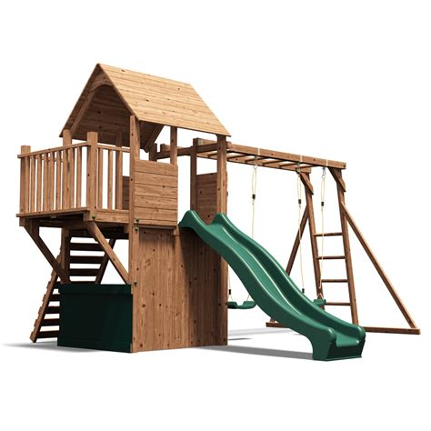 wooden swing climbing frame balconyfort searcher childrens climbing frame swing and