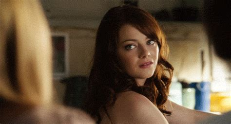 emma stone easy a gif emma stone laughing gif find share on giphy