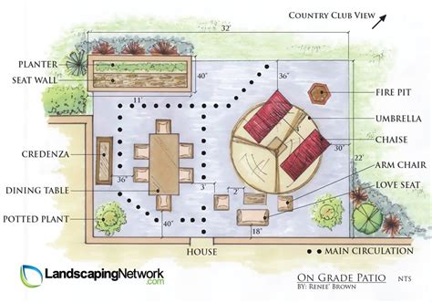 Patio Furniture Layout Patio Layout Ideas Landscaping Network