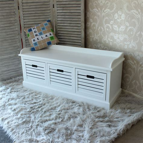 white storage bench with drawers storage bench three drawers white bedroom hallway shoes