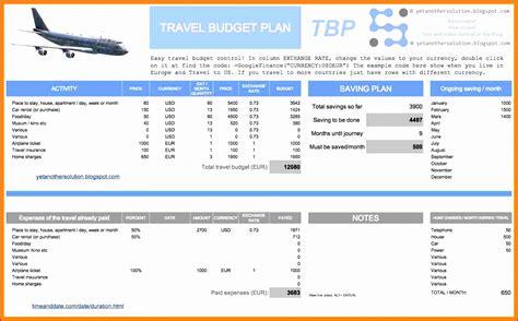 5 Trip Planner Template Excel Exceltemplates Exceltemplates Travel Plan Template Excel