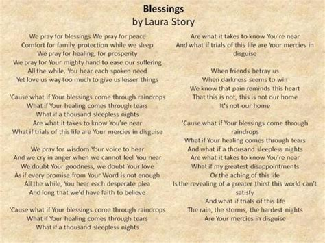 printable lyrics laura story blessings ipod theology page 3 may jesus christ be praised st