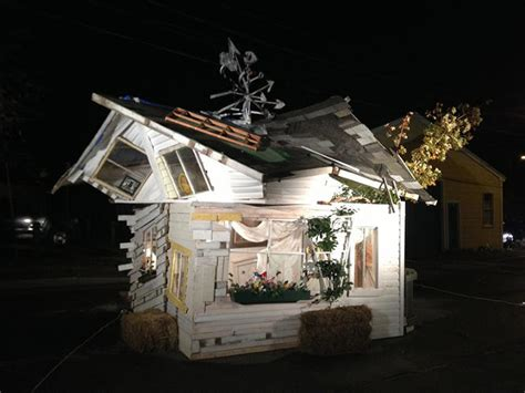 wizard of oz house a replica of quot the wizard of oz quot house built from scrap