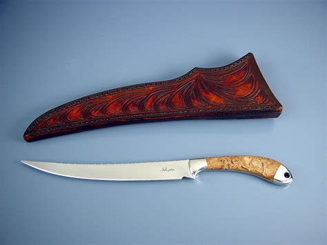 Handmade Fillet Knives - quot volans quot handmade custom fillet knife by fisher