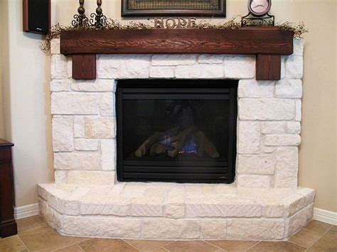 Limestone Fireplace Hearth by Limestone Hearth With Cedar Mantle Home Style