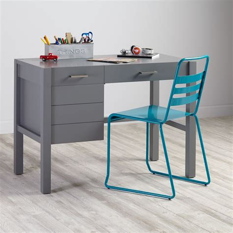 uptown modern desk grey the land of nod
